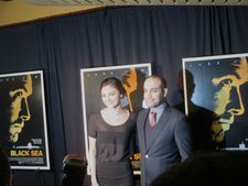 Dancer composer Ilan Eshkeri with Christine Evangelista on the Black Sea red carpet