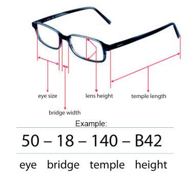 Eyeglass Frame Sizes Chart Amtframe Org