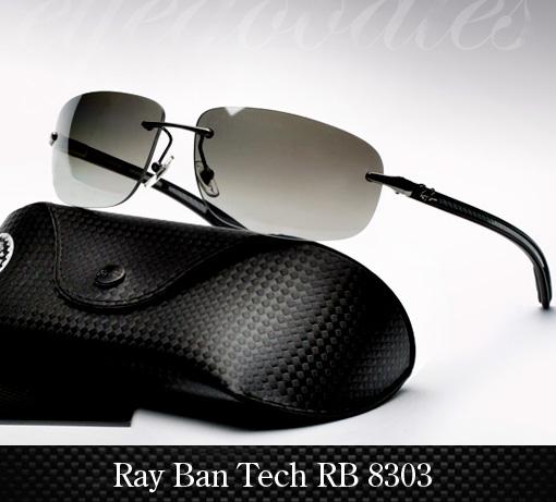 Ray Ban RB 8303 Carbon Fibre Sunglasses