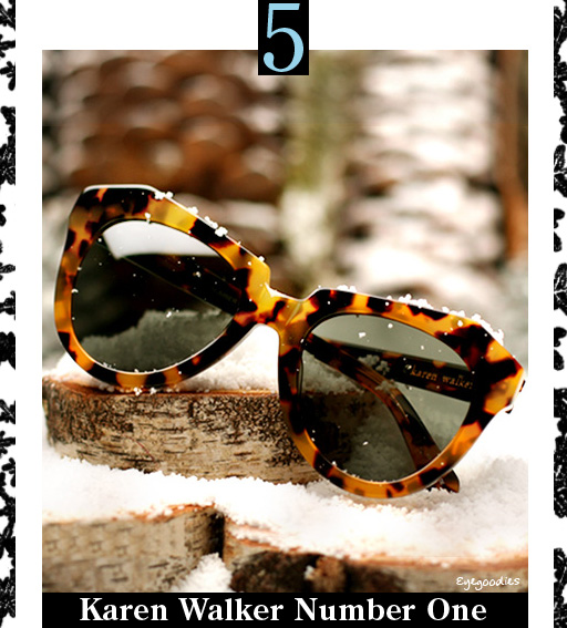 5. Karen Walker NUmber One Sunglasses