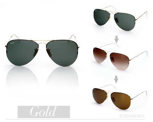 Ray Ban RB 3460 Sunglasses Aviator Flip Out