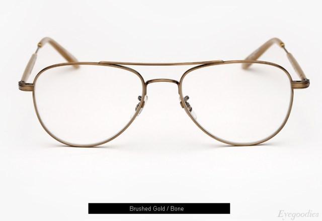 Garrett Leight Linnie eyeglasses - Brushed Gold