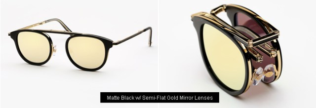 Garrett Leight Van Buren Combo sunglasses - Matte Black