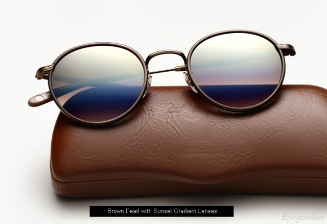 Garrett Leight Wilson sunglasses - Brown Pearl