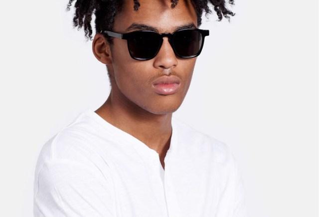 Super Unico Black Sunglasses
