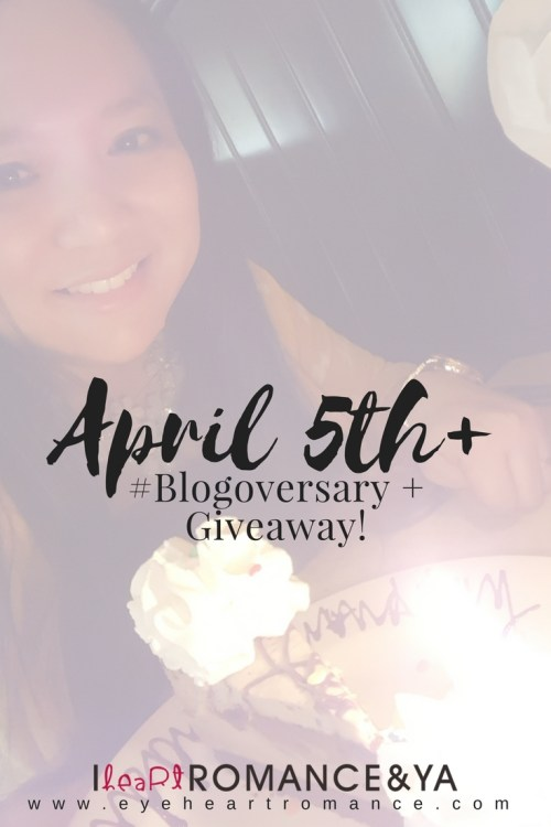 April 5th + #Blogoversary + Giveaway!