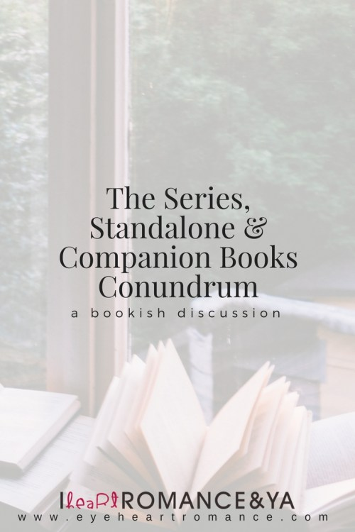 The Series, Standalone & Companion Books Conundrum