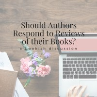 Should Authors Respond to Reviews of their Books?