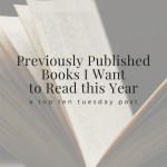 Previously Published Books I Want to Read this Year