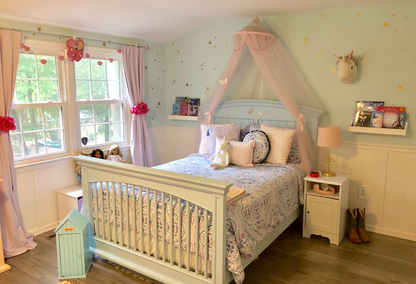 Pretty in Teal - Bedroom Renovation for Two Sisters - Eye in ...