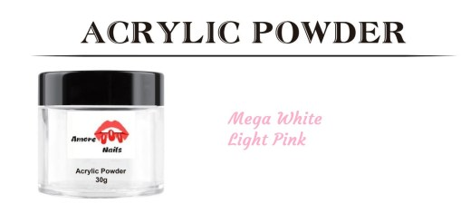 acrylic powder 30g ombre nails white pink