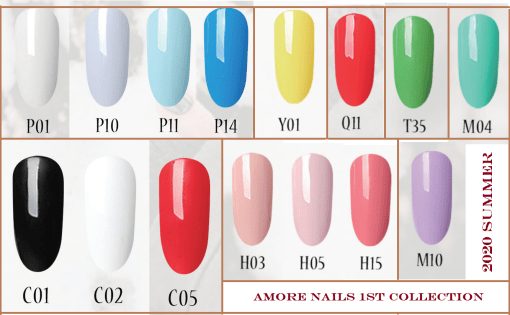 amore nails first collection gel polish 15ml bttle led uv