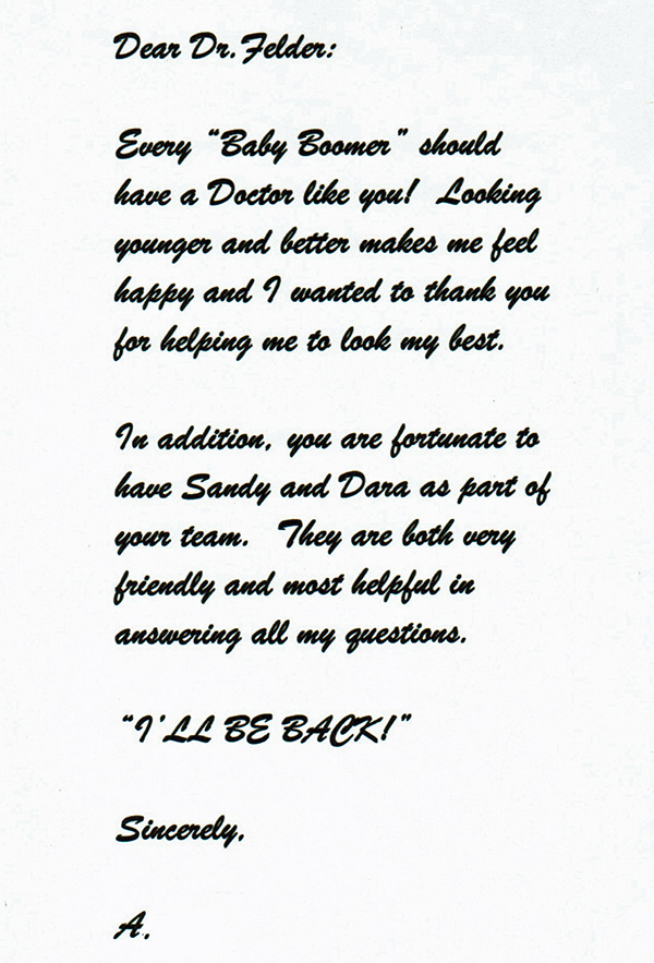 Patient Thank You Cards Fort Lauderdale, Letter from