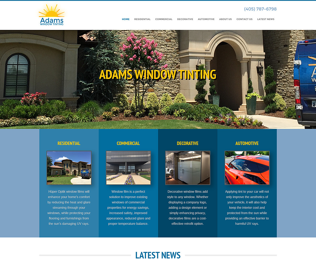 Website Build for Adams Window Tinting