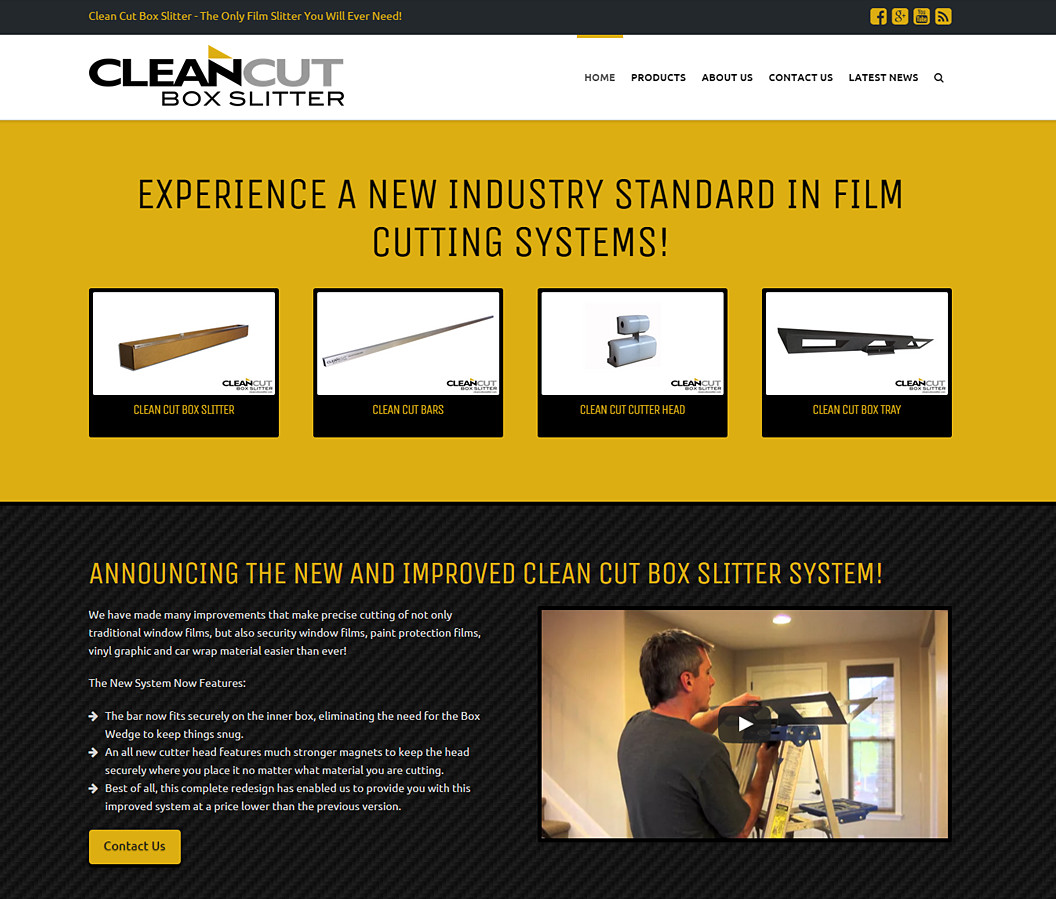 Website Design for Clean Cut Box Slitter