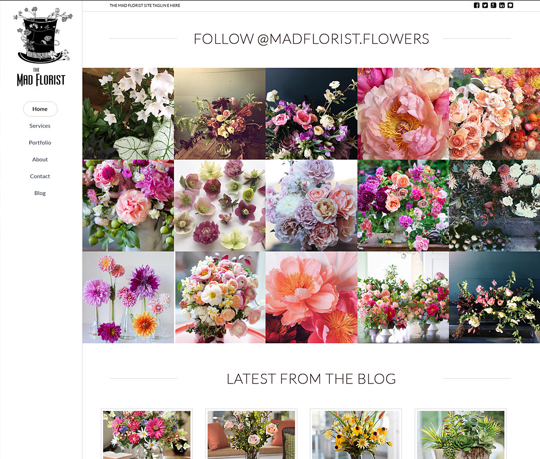 Website Built for The Mad Florist