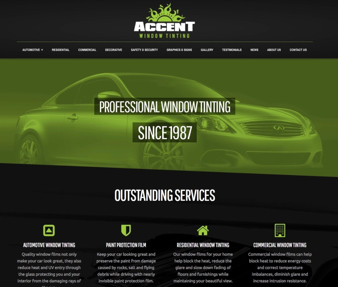 Accent Window Tinting Website