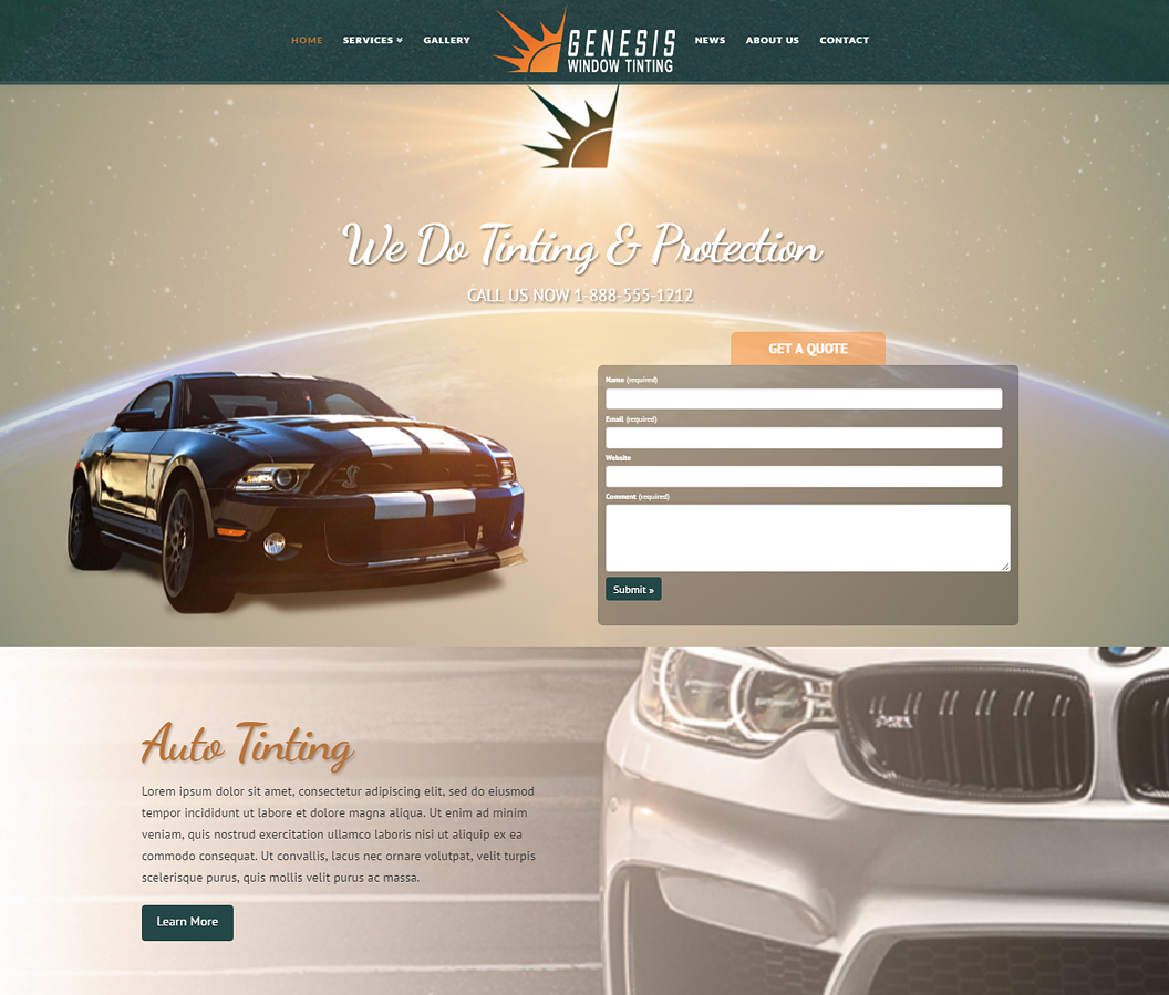 Genesis Window Tinting Website