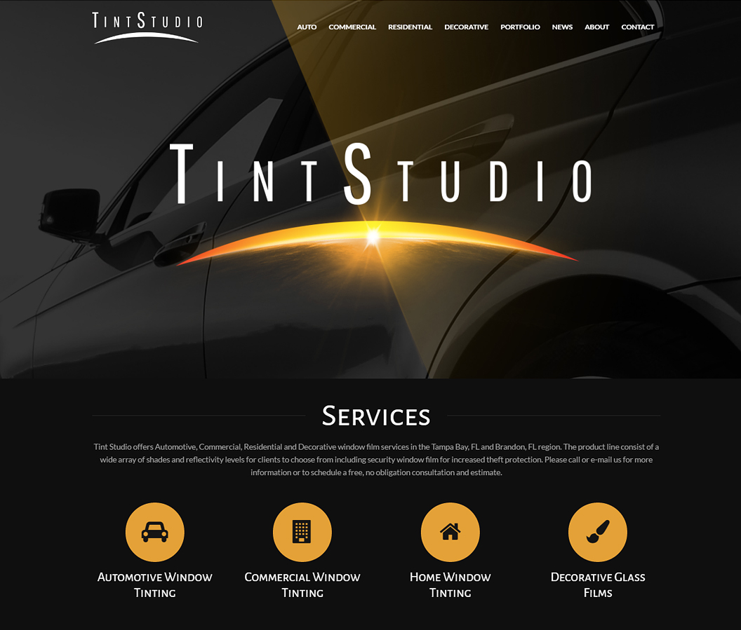Tint Studio Website