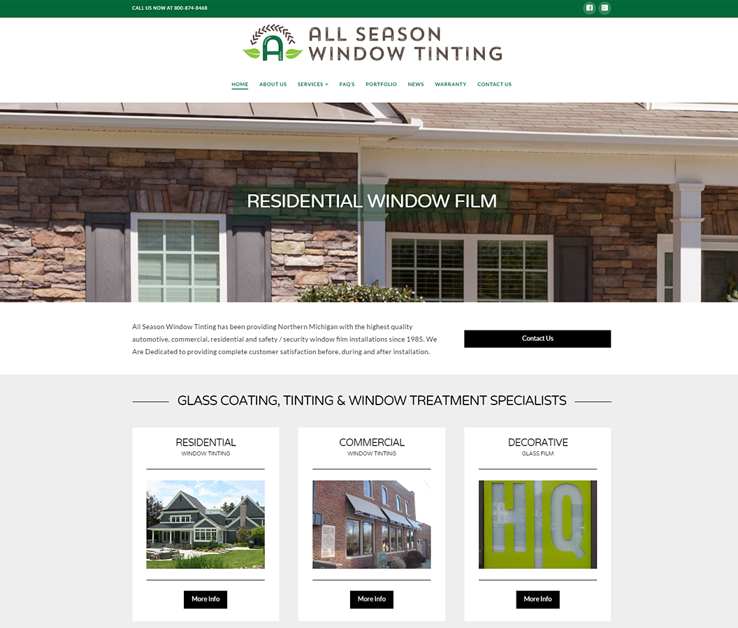 All Season Window Tinting Website By Eye Magnet Managment