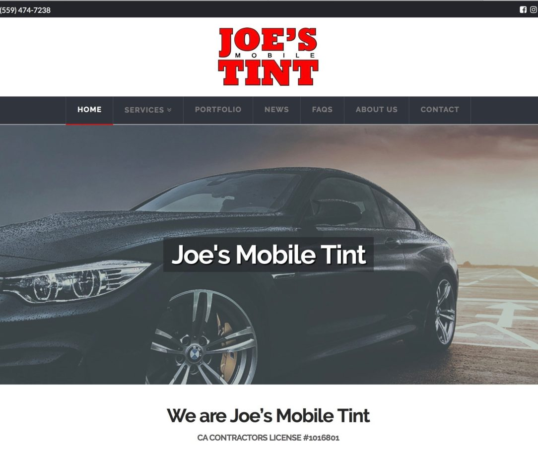 joe s mobile tint website build and ongoing marketing