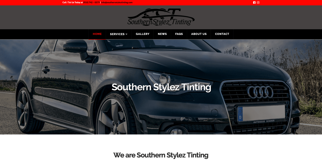 Southern Stylez Tinting - Web Design by Eye Magnet Management
