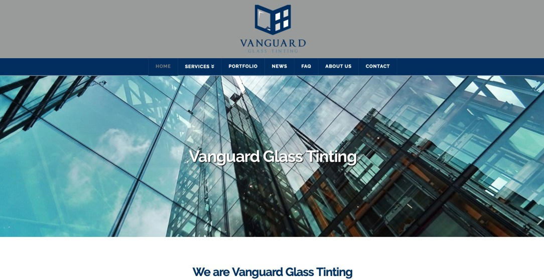 Vanguard Glass Tinting - Website Design by Eye Magnet Management