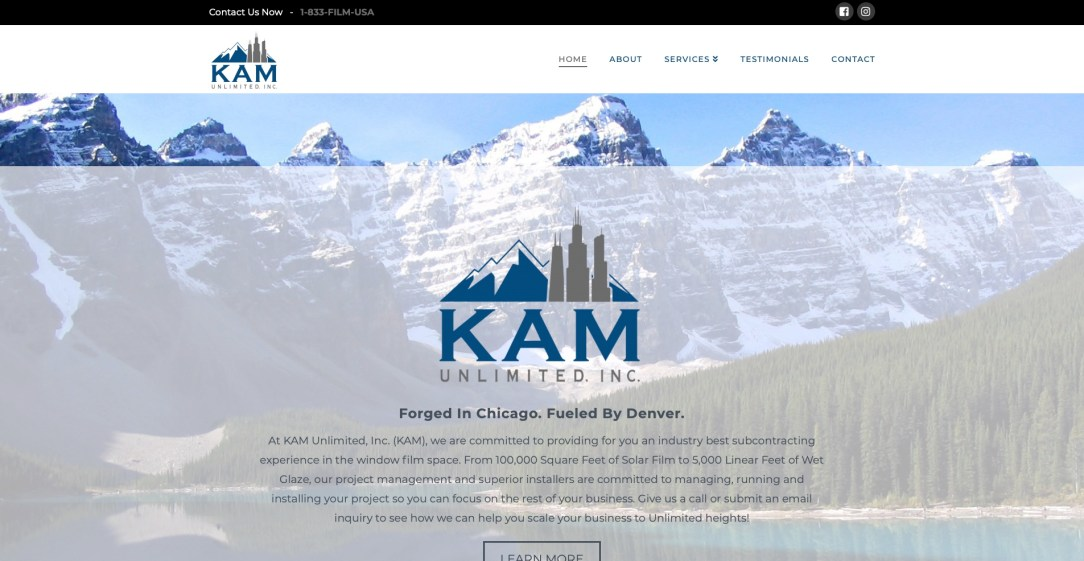 KAM Unlimited - Website Design by Eye Magnet Management
