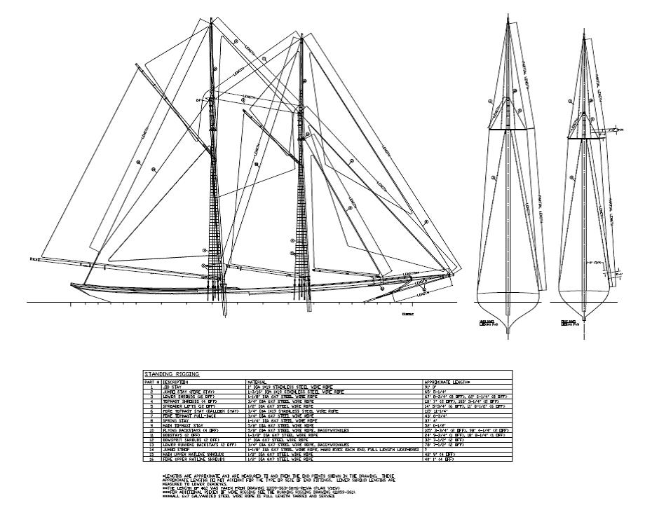standing rigging diagram omron ly2 relay wiring columbia design e y marine consultants drawing