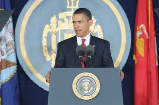 President Obama addresses the Class of 2009