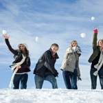 Snowball Fight At Park Place