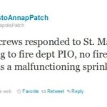 <del>Reported Fire</del> Sprinkler Malfunction At St. Mary's School
