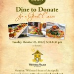 Brio To Donate 10% To Wellness House Tomorrow Night