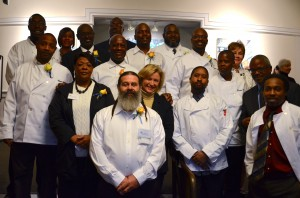 Graduates of B.E.S.T program celebrate with staff from the Light House (Courtesy Photo)