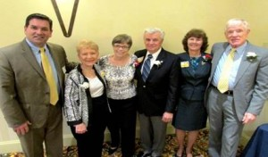 Pictured from left: Michael S. McHale, President and CEO, Hospice of the Chesapeake, Earley Award recipient Gloria Kinsley of Bowie, Ora Lee and Bob Stoner of Severna Park and Bill and Rose Lovelace of Annapolis, recipients of the Spirit of Hospice Award.