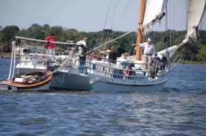 The skipjack H.M. Krentz will be offering three sailing cruises at the Chesapeake Bay Maritime Museum (CBMM) in St. Michaels, MD on Saturday, October 5 during the 31st annual Mid-Atlantic Small Craft Festival. Boarding is limited, with tickets available at CBMM's Welcome Center the day of the event.