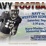 LIVE BLOG: Navy Vs Western Kentucky today at 3:30pm