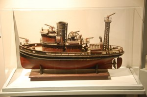 The model tug Torrent, shown here, is featured in CBMM's Push and Pull: Life on Chesapeake Tugboats exhibition, which closes on January 5. The exhibition opened on the first floor of the museum's Steamboat Building in 2012 and explores the world of Chesapeake tugboats and the men and women who work on them. The Steamboat Building's Navigating Freedom: The War of 1812 on the Chesapeake exhibition will also strike on January 5, so that CBMM can prepare for a major exhibition showcasing many of the most significant artifacts in the museum's 50-years of collecting. A Broad Reach: 50 Years of Collecting is set to open during a private reception on Friday, May 22, 2015—in honor of the date the museum began in 1965. It opens to the public on Saturday, May 23, when CBMM will host a festival commemorating its 50th anniversary.