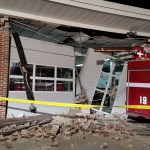 Fire engine backs into Cape St. Claire firehouse, causes partial collapse