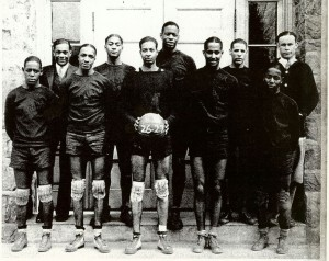 (Photo left: Morgan State Basketball team, 1927, courtesy of Dr. Edwin Johnson)