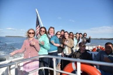 Guests aboard Lady Sarah cruising to St. Michaels. Photos by Sabrina Raymond.