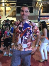 D.C. native, Chris, sported this t-shirt filled with images of Taylor Swift. The shirt even has it's own hashtag: #tswiftshirt