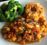 Wild Caught Coho Salmon with mango salsa