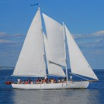 Opening Weekend for the 74-foot, Schooner Woodwind Sailing Cruises