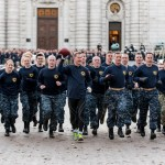 USNA's 13th Company runs Army-Navy game ball to Philadelphia (PHOTOS)