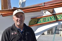 Tom Campbell of Campbell's Boatyards in Oxford, Md. and his team spent more than14-months restoring the 1932 Chesapeake Bay sailing log canoe Flying Cloud to competitive sailing form. Flying Cloud is recognized on the National Register of Historic Places and races under the No. 22, requiring as many as 18 crew to campaign her.