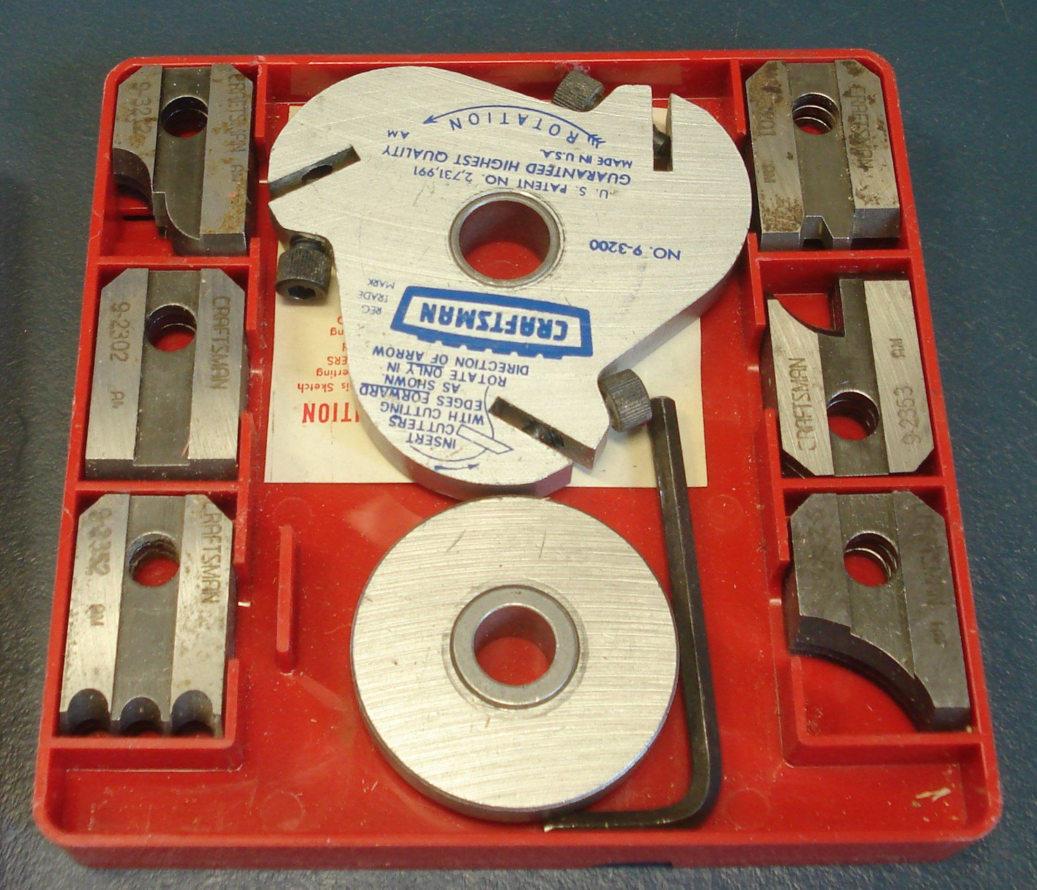 Craftsman 9 Table Amp Radial Arm Saw Molding Cutter Set