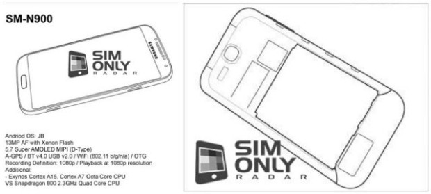 Could this be the Samsung Galaxy Note III (SM-N900