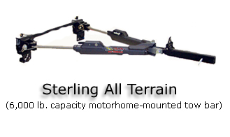 Using Towbars When Towing a Vehicle Behind A Motorhome or