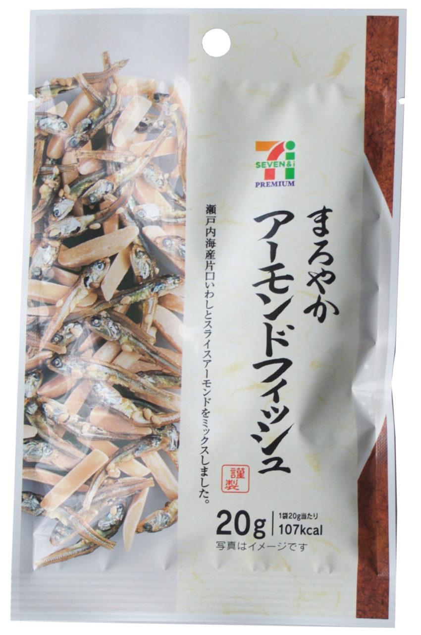 traditional japanese snack, almond fish